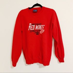 Vintage Red Wings Stanley Cup Crew Neck